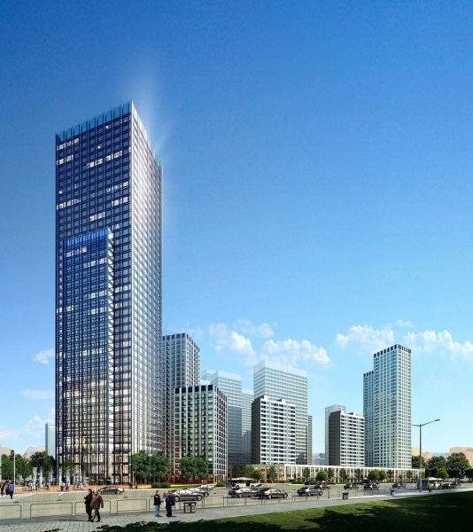 计划修建108层精装修海景住宅.楼面价格已达1万8每平米.由